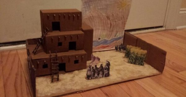 Adobe indian village school project kids pinterest for House projects
