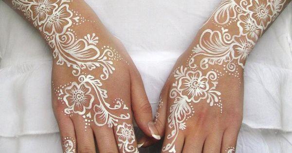 White Ink Henna: White Bridal Henna Paint