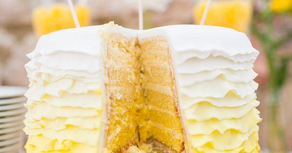 Ombre-Hochzeitstorte von suess-und-salzig in Gelb und Weiß ...