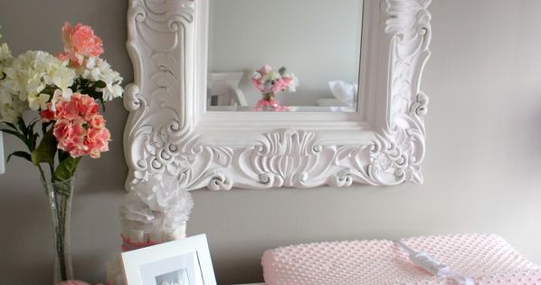 Elegant Pink & Grey Nursery @briher Nursery ideas and inspiration nursery inspiration baby