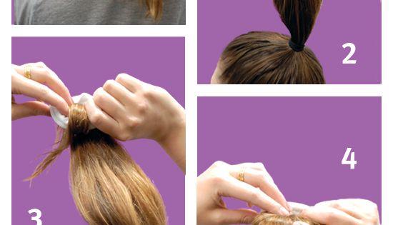 How to create a 60-second sock bun!