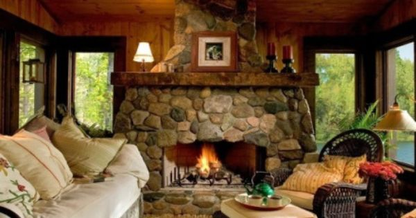 Lakeside cabin from stone hearth lands end developers on for Country home and hearth