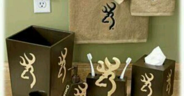 Deer bathroom set hunting decor pinterest future for Hunting bathroom accessories