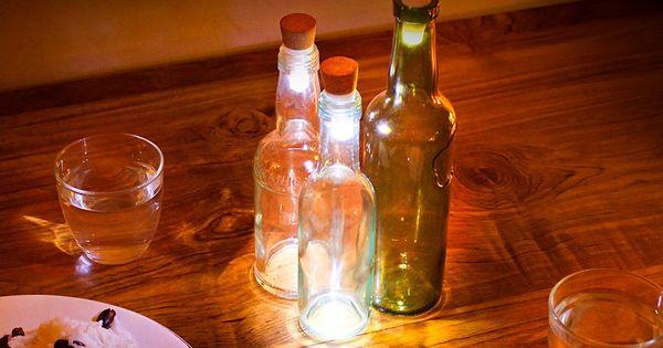 Id E R Cup Transformez Vos Bouteilles De Vins En Lampes Les Lumi Res Lumi Res Et Deco Balcon
