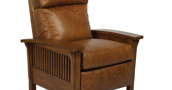 Mission Style Recliner In Chaps Leather Leather