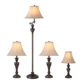 Portfolio Springsley Piece Standard Lamp Set With Shades Lamp Sets Black Floor Lamp Standard Lamps