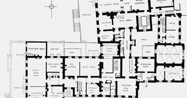10 downing st london ground floor plan published in for 10 bellair floor plans