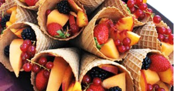 Fruit Salad in Cone children | kids | recipes | fun |