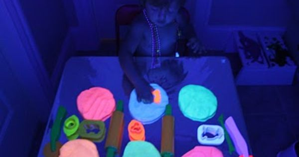 DIY glow in the dark play dough. Who says this is just