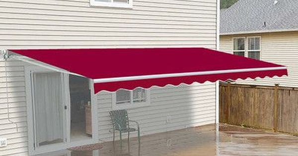 Aleko 10 W X 8 D Slope Patio Awning Wayfair Patio Awning Patio Canopy Gazebo Pergola