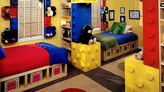 LEGO bedroom, this is a great idea and uses IKEA furniture and
