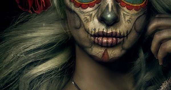 Halloween makeup ideas: Day of the Dead(Dia de Muertos). Sugar scull.