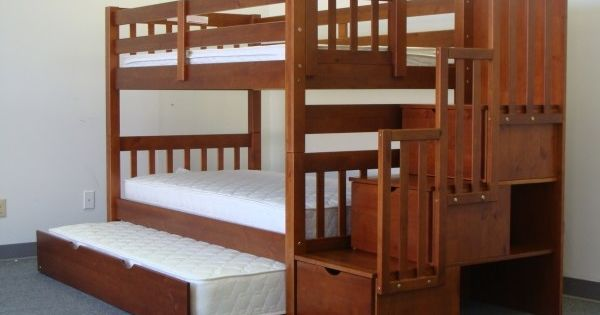 The style bunk beds i want for the girls minus the trundle bed bedroom pinterest - What you need to know about trundle beds ...