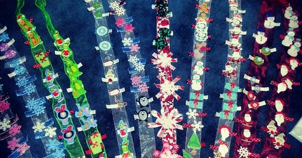 christmas barrettes created by me pinterest barrette and