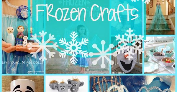 Frozen fans will love this! - 20 FROZEN crafts - A Little