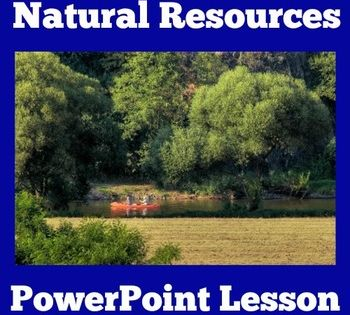 Natural Resources Powerpoint Lesson Natural Resources Natural Resources Activities Nonrenewable Resources