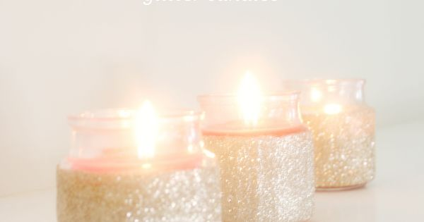 DIY Candles DIY Home DIY Crafts : DIY: Glitter Candles