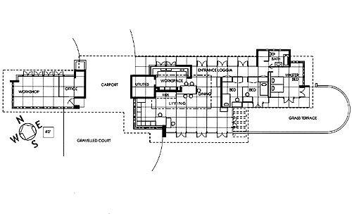 floor plan brandes house 2202 212th ave se sammamish washington 1952 usonian frank. Black Bedroom Furniture Sets. Home Design Ideas