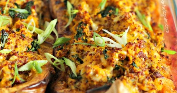 Quinoa, Kale and Bacon Stuffed Butternut Squash | Recipe ...