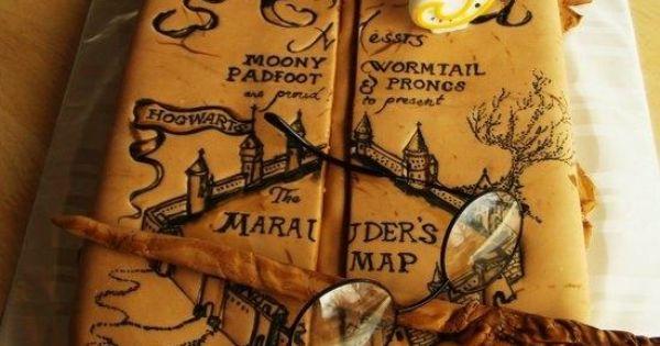 Marauder S Map Cake Cakes Harry Potter Pinterest