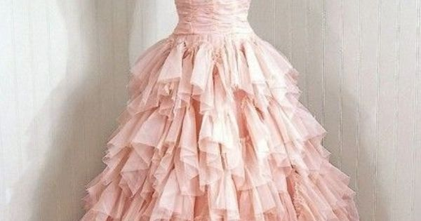 Bridal Pink - pink wedding dress; pink bridal gown; ruched bodice; layered