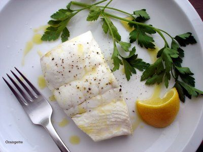 Poached Halibut with Sweet Garlic, Parsley, and Lemon by orangette # ...