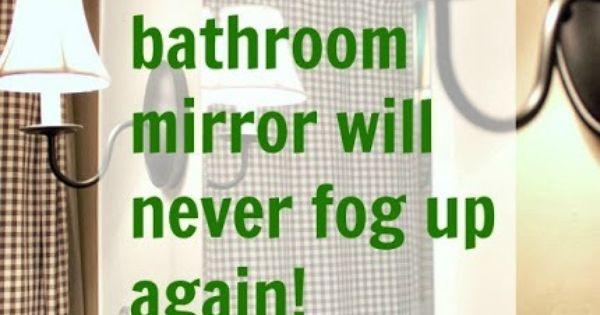 How to keep your bathroom mirror fog free bar bathroom and bathroom mirrors - Simple ways keep bathroom mirror fogging ...