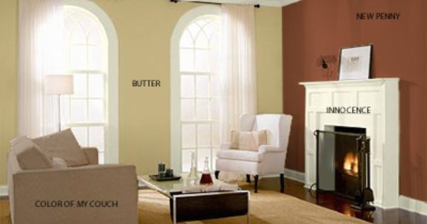Living Room Paint Ideas Accent Wall painted living rooms two- toned brown |  paint ideas, home