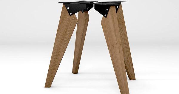 Tischbeine Modern Eiche Massiv Nach Mass Holzpiloten Tischbeine