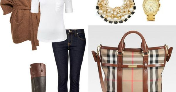 Great Fall Style... looove the Burberry plaid bag so much & the