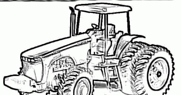 tractor coloring pages images