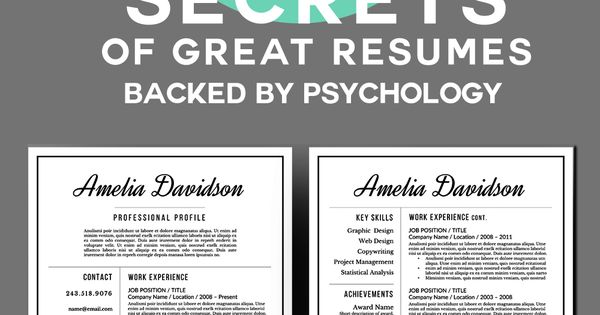 6 Secrets of Great Resumes, Backed By Psychology Forgive me - great resumes