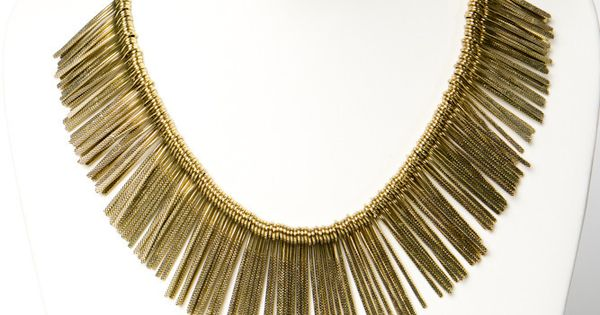 Brass Rays Collar Necklace. Only $30!