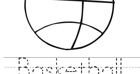 Coloring Sheet B For Basketball