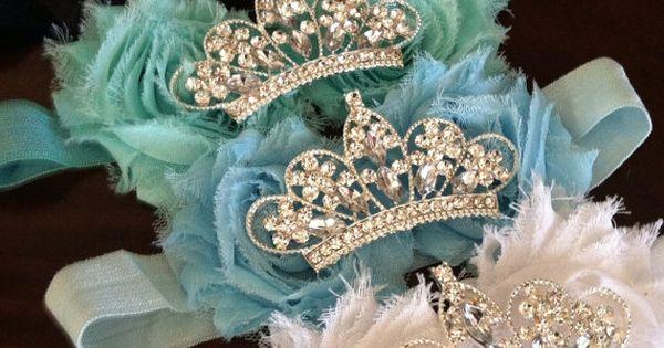 Baby Crown headband Flower Tiara Rhinestone Baby by mysweetbee, $10.00. All baby