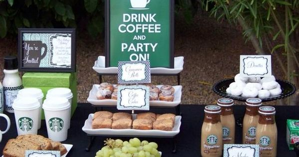 coffee party?! Best party idea EVER! Maybe for bridal shower?