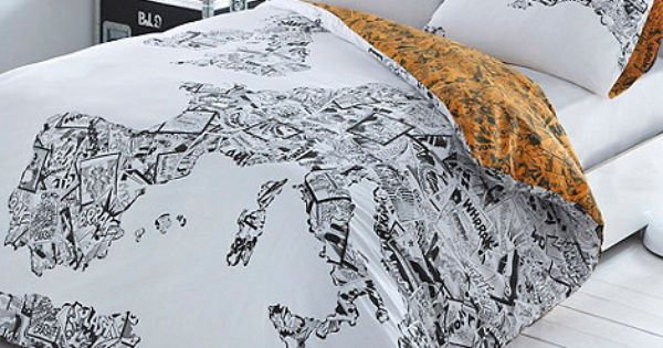 Ben de Lisi White Comic Map bedding set- at Debenhams.com Interio...