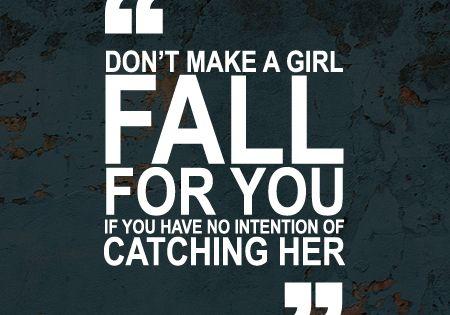Being a gentleman.