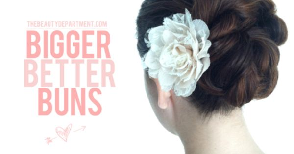 Bigger Better Buns: bulk up a boring bun using rope braids