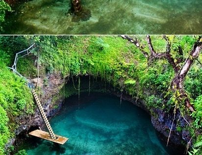 To Sua Ocean Trench ( Giant Swimming Hole ) Lotofaga, south coast