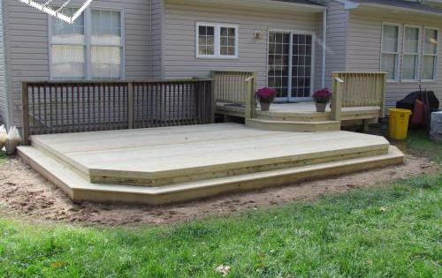 possible solution to raised back door | backyard | pinterest ... - Patio Backyard Ideas