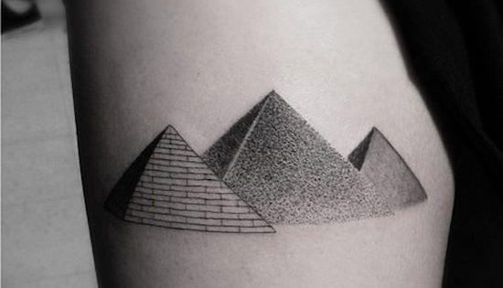 14 Fascinating Pyramid Tattoos Tattoo Pinterest