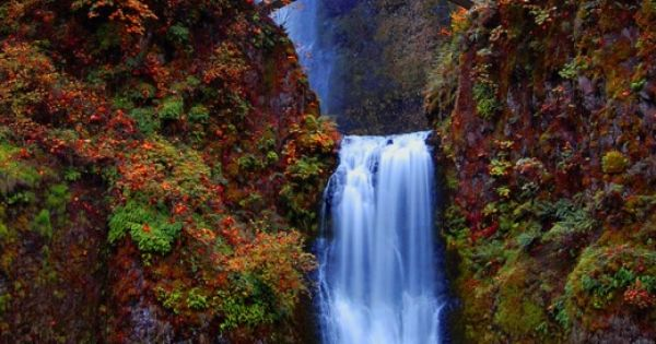 Multnomah Falls in the Columbia River Gorge near Portland, Oregon • photo:
