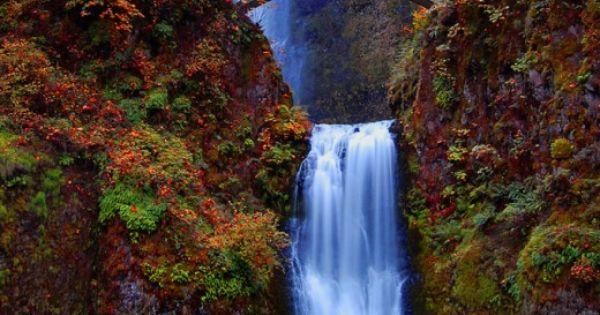 Multnomah Falls in the Columbia River Gorge near Portland, Oregon • photo:
