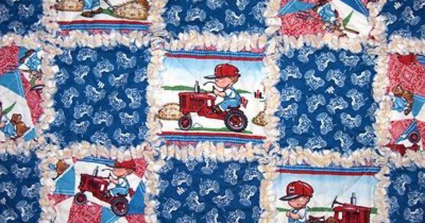 Case Ih Tractor Fabric Baby Rag Quilt International Harvester
