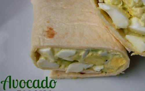 Avacado egg salad wrap