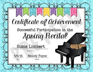 Easy Recital Prep And Gift Idea For Students Piano Recital Gifts Piano Recital Piano Recital Awards