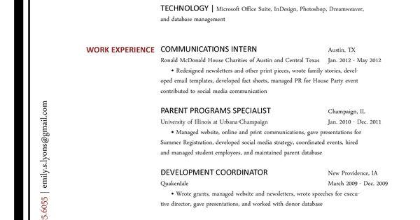 Communications Resume I Need a Job! Pinterest Shorts, Tools - short resume samples