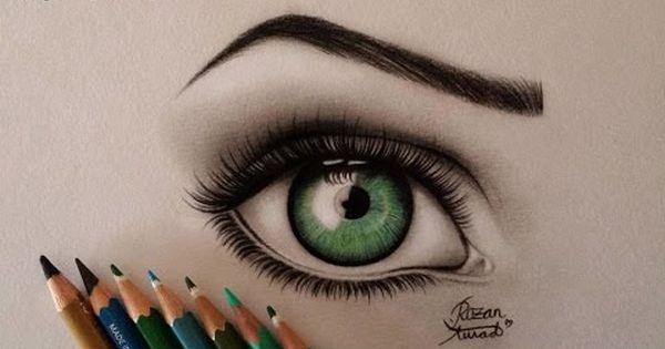تعلم رسم الوجه بالرصاص للمبتدئين مع خطوات بسيطة Youtube Color Pencil Drawing Eye Drawing Eye Art