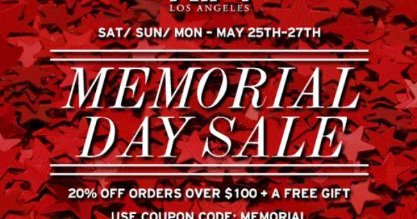 memorial weekend online sales